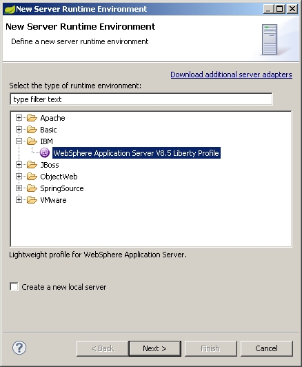 How to setup Websphere Liberty Profile in STS? | Strive to know a