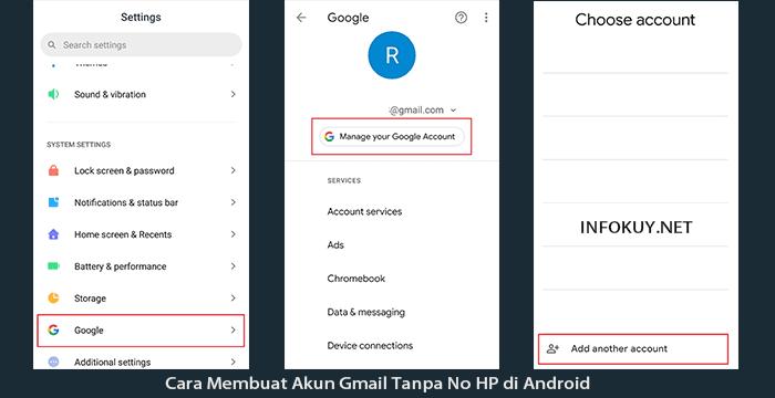 2 Cara Membuat Akun Gmail Tanpa No Hp Gambar Infokuy