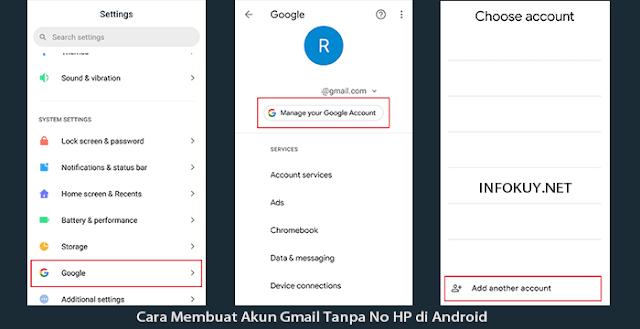 Cara Membuat Akun Gmail Tanpa No HP di Android #1