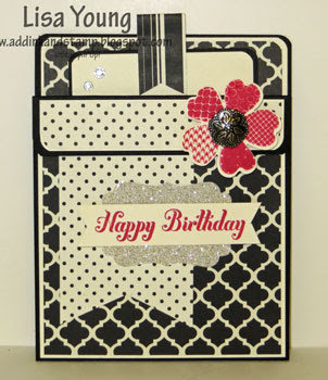 Stampin' Up! Flower Shop stamp set. Pocket Card. Handmade card by Lisa Young, Add Ink and Stamp
