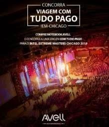 Cadastrar Promoção Avell Notebooks 2019 Viagem Chicago - Intel Extreme Masters