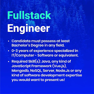 Lowongan Kerja Fullstack dan Frontend Engineer