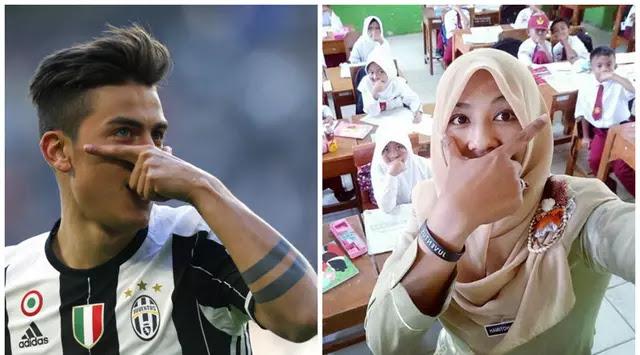 Fotonya di Posting Ulang Pemain Juventus, Guru SD ini Mendadak Tenar