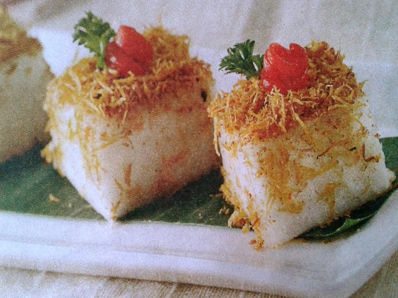 Gambar Resep Talam Potong Serundeng Ayam