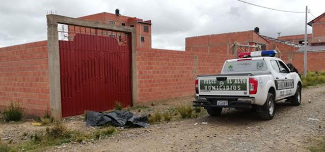 El Alto: Asesinan a golpes a una mujer y botan su cuerpo en la calle