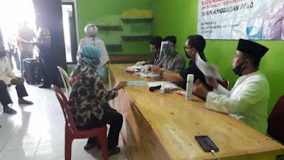 200 Warga Desa Karang Serang Dapat Bantuan Sembako Perluasan Covid-19