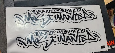 Cutting Sticker NFS Most Wanted - Percetakan Tanjungbalai