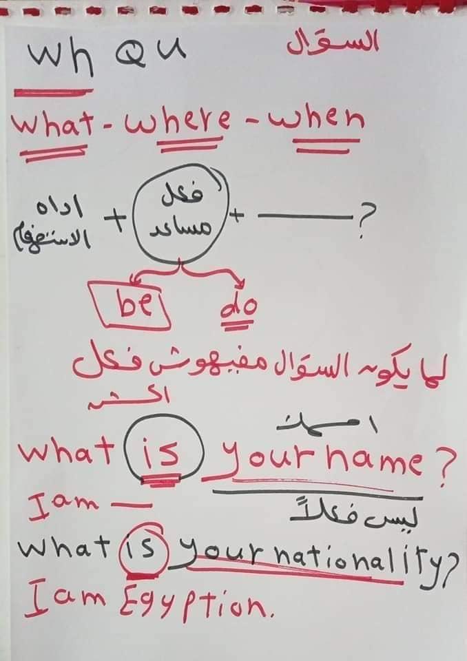 اساسيات جرامر - الضمائر الاساسيه في اللغه الانجليزيه واستخدام verb to be 10