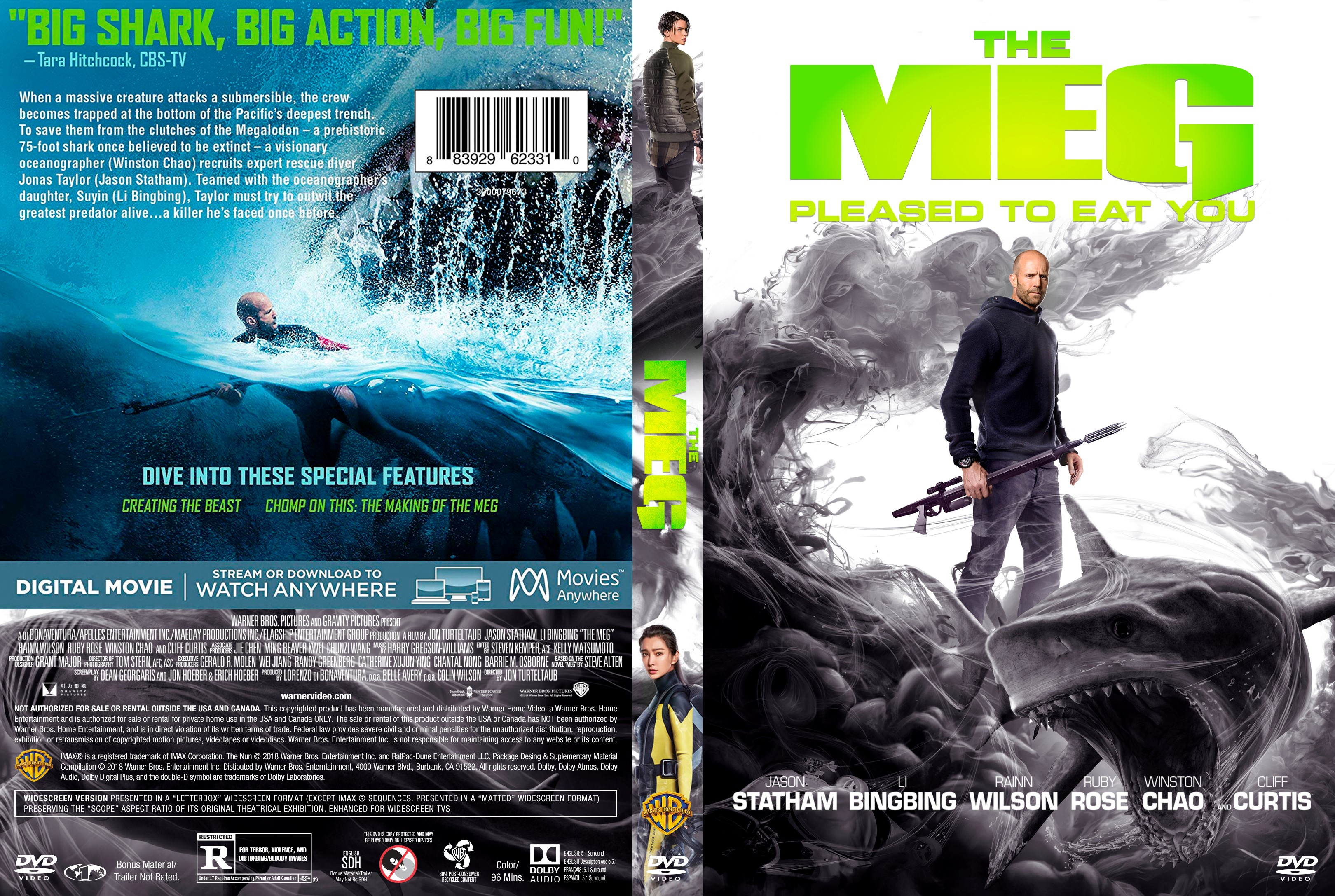 The Meg Dvd Cover Cover Addict Dvd Bluray Covers And Movie Posters