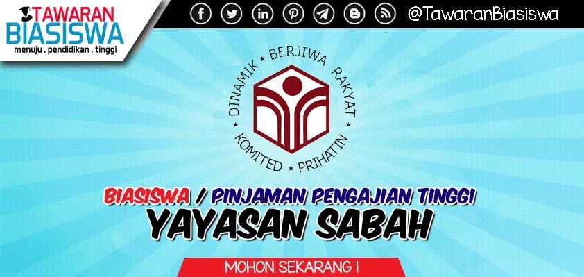 Permohonan Biasiswa / Pinjaman Pengajian Tinggi Yayasan Sabah