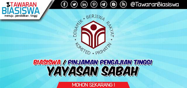 Permohonan Biasiswa / Pinjaman Pengajian Tinggi Yayasan Sabah 2020