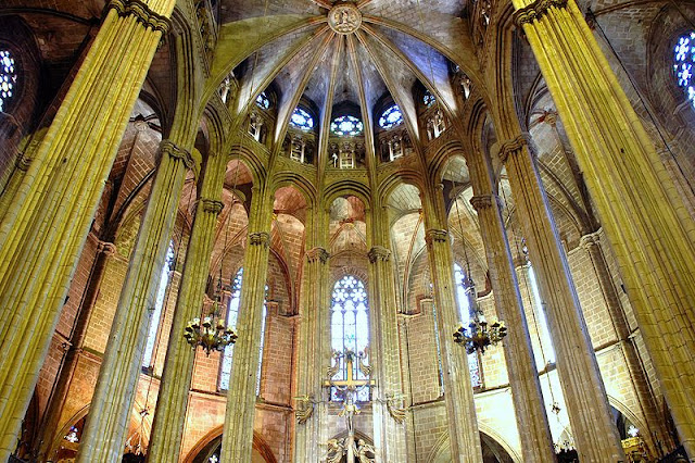 Cathedral of Barcelona, the holy cross and saint eulalia Catalonia, Spain