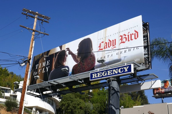Lady Bird Time to Fly Oscar billboard