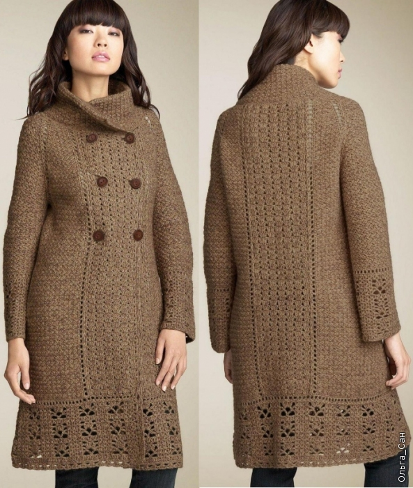 Long Knitted Coat Pattern