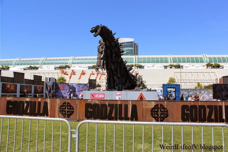 Godzilla installation outside San Diego Comic Con 2014