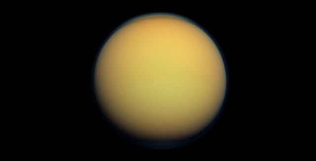 Titan, Saturn's largest moon, photographed by NASA's Cassini spacecraft. Credit: NASA/JPL-Caltech/Space Science Institute
