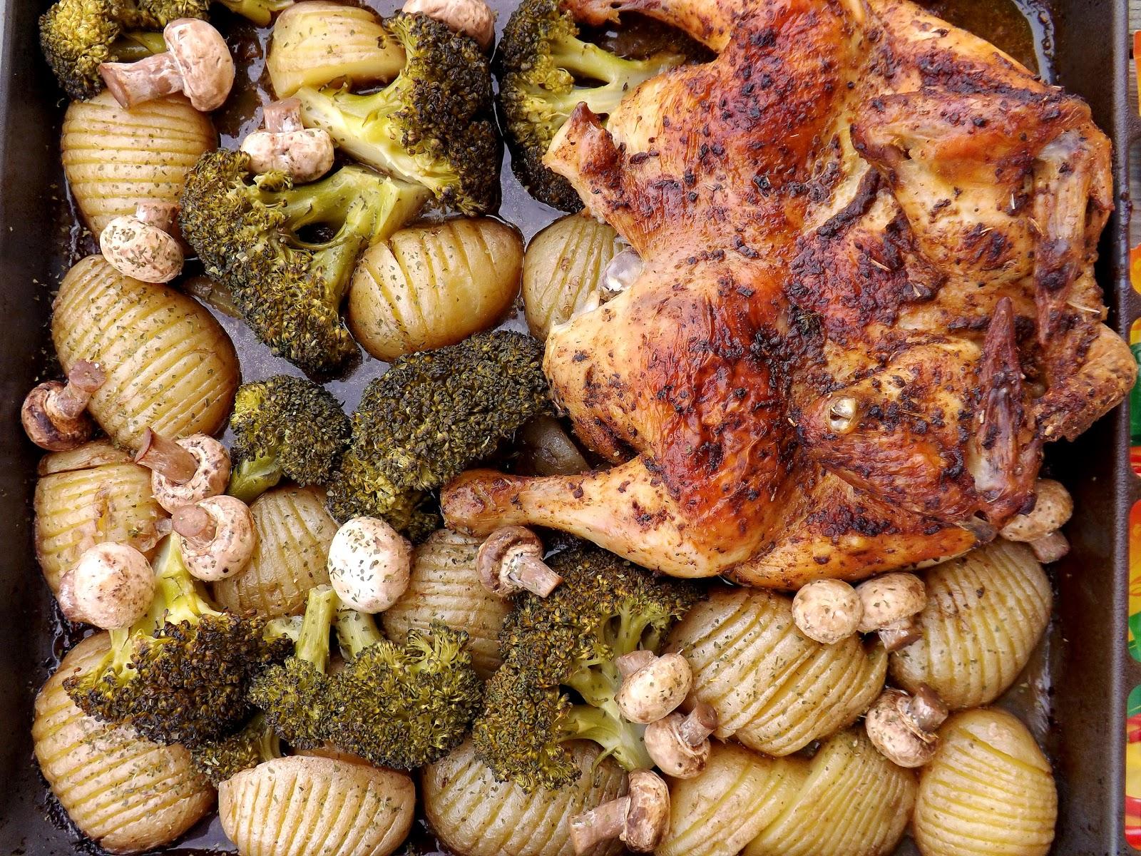 Pieczony Kurczak Z Warzywami I Pieczarkami Kulinaria Zblogowani