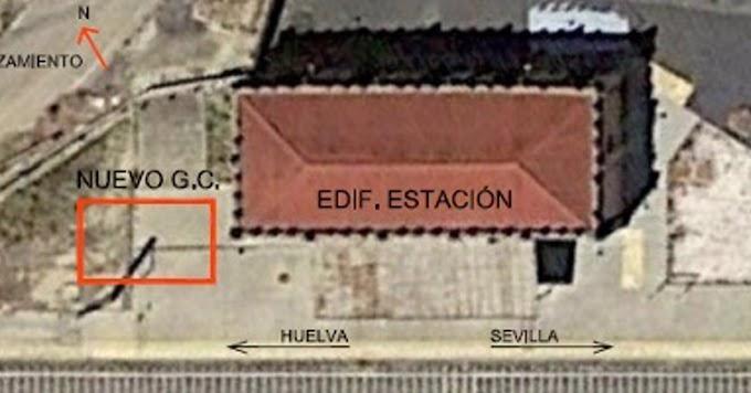 Adif adjudica la construcción de un nuevo gabinete de circulación junto a la estación de Escacena