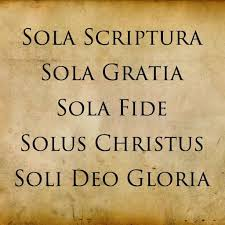 Sola gratia sola scriptura dari sola fide arti DIBENARKAN KARENA