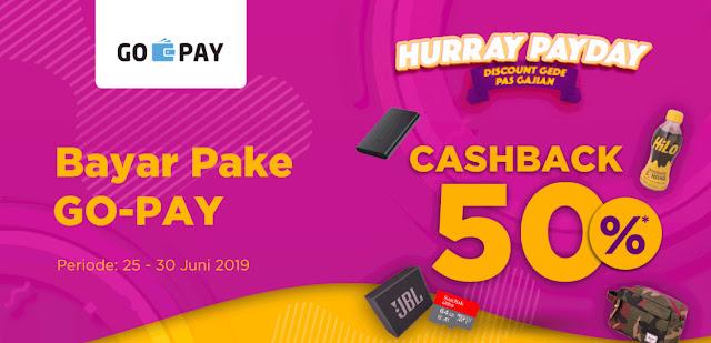 Promo Cashback 50% GOPAY Belanja di JD.ID