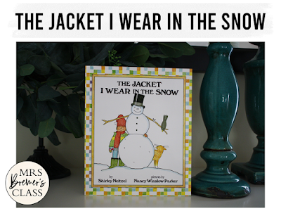 The Jacket I Wear in the Snow winter book study literacy unit with Common Core aligned companion activities for K-1