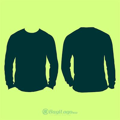 Mockup Kaos Lengan Panjang Template vector cdr