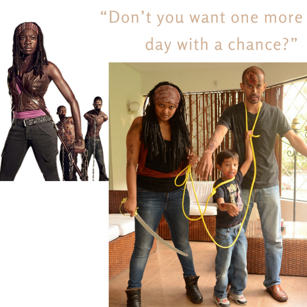 Practical Mom: Michonne from The Walking Dead, Halloween Costumes