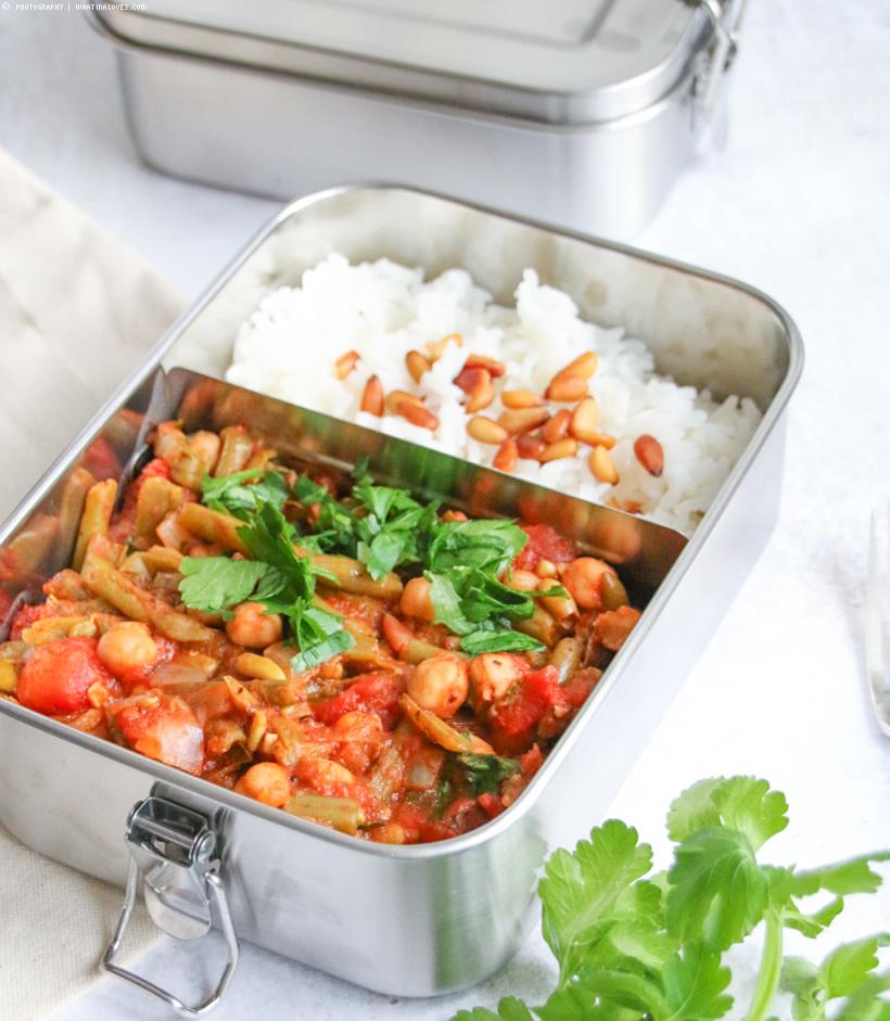 Bohnen-Tomaten-Eintopf mit Kichererbsen