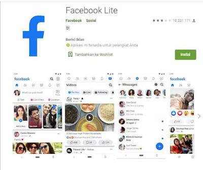 cara menghemat kuota facebook dengan facebook lite