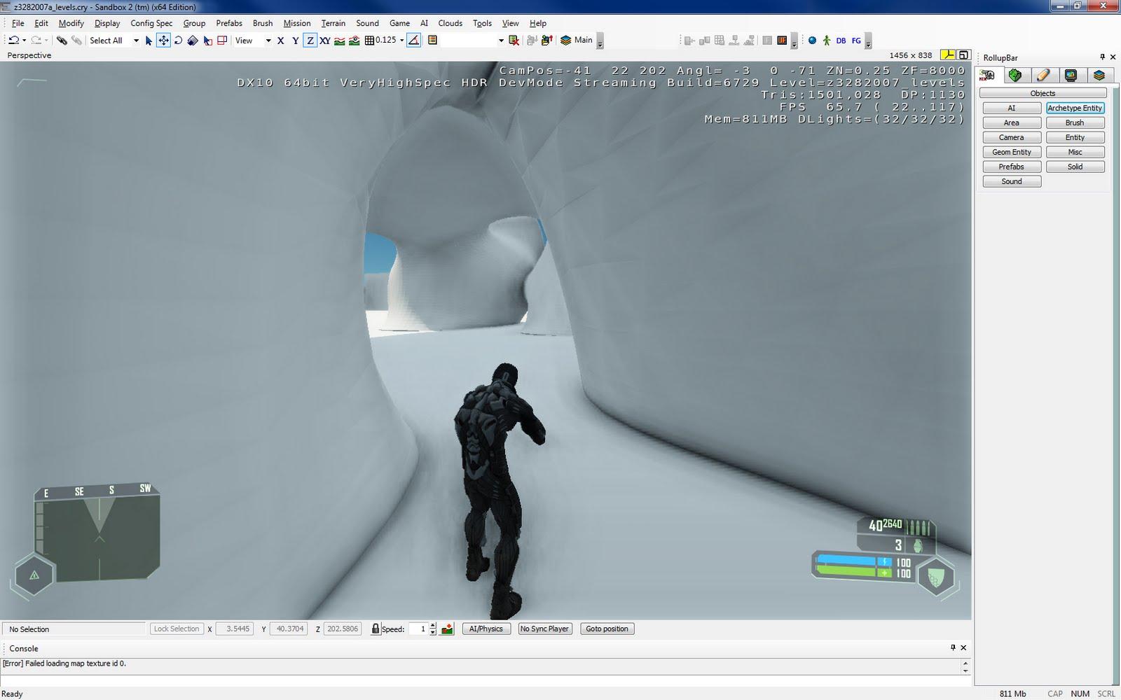Imported the model into Crysis   Evo-Bio-Architecture