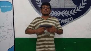 Capturan a ladrón con una pistola y marihuana, en Catemaco Veracruz
