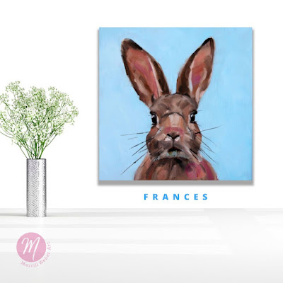 frances-rabbit-painting-merrill-weber