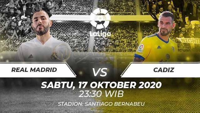 Prediksi Real Madrid Vs Cadiz, Sabtu 17 Oktober 2020 Pukul 23.30 WIB @ Bein Sport
