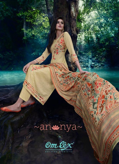 OmTex Annya Lawn Salwar Kameez New Collection