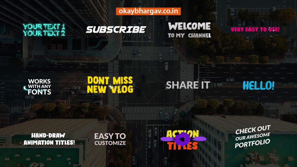12 Most Powerful Comic Action Titles   After Effects Free Download   Okay Bhargav