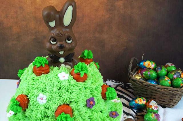 carrot cake de conejo de pascua