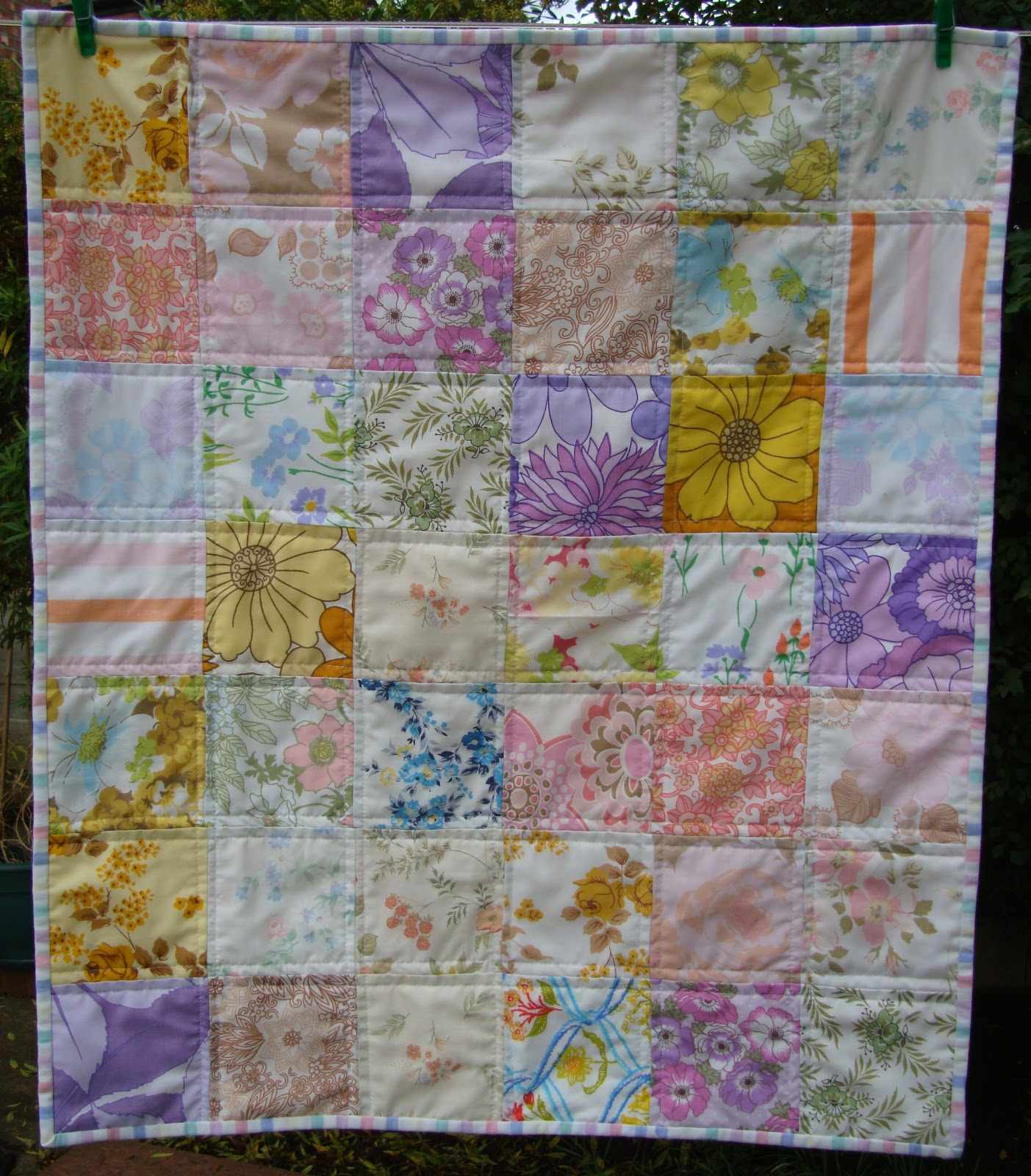 Vintage Baby Quilt Charm About You