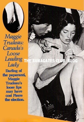 Margaret Trudeau poses without panties, New York 1979