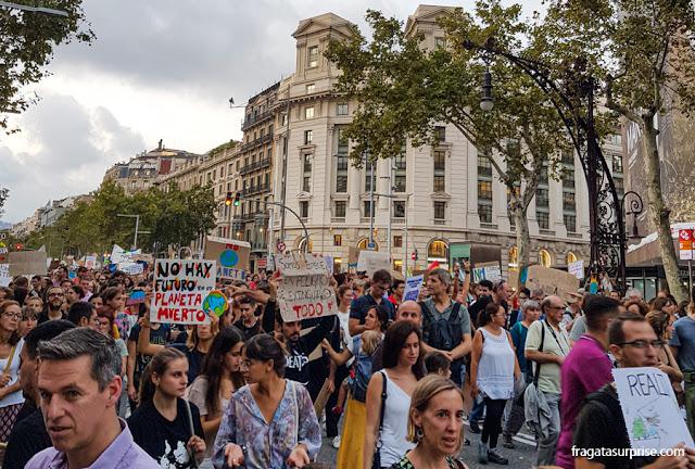 Passeata da Greve pelo Clima em Barcelona