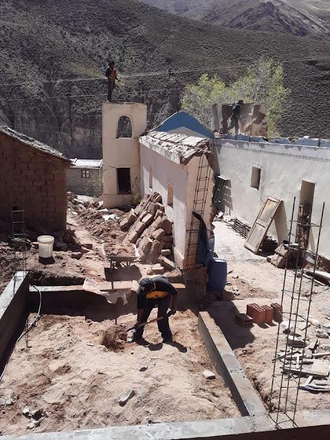 Es geht vorwärts in Zapatera beim Kapellenumbau