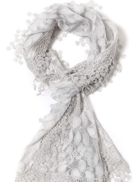 long scarf with lace