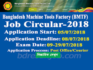 BMTF - Bangladesh Machine Tools Factory Limited Job Circular 2018