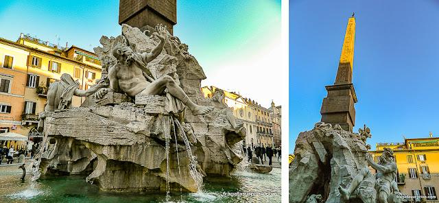 Piazza Navona, Roma: Fonte dos Quatro Rios, de Bernini