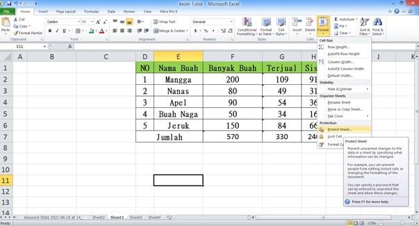 Cara Mengunci Rumus di Excel Agar Tidak Bisa di Edit