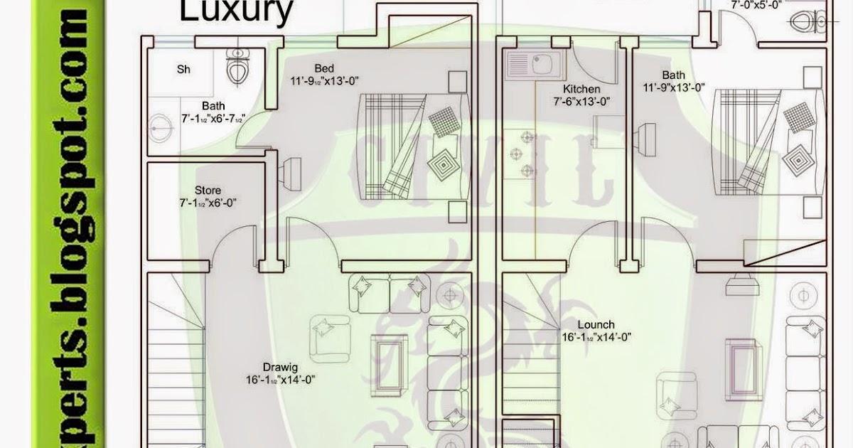 6-marla-luxury-p Stan Marla House Plan on bahria town villas floor plan, lahore house floor plan, 2 kanal lahore floor plan, 2 5 marla layout plan,