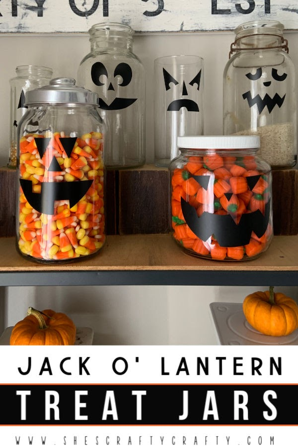 Jack O' Lantern Treat Jars - Make these easy pumpkin treat jars with supplies you probably have on hand