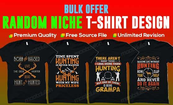 Bulk custom random niche t shirt design services