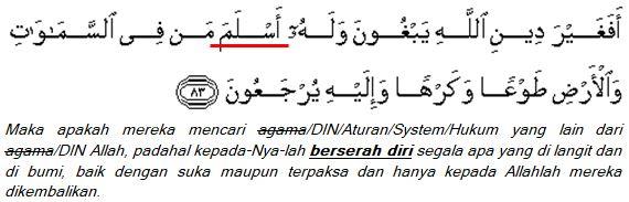 surat Ali Imran (3); ayat 83