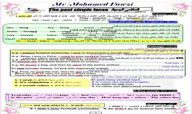 راجع قواعد (جرامر) انجليزي تالتة ثانوى فى ملف واحد جميع قواعد (جرامر) اللغة الانجليزية الصف الثالث الثانوى فى ملف واحد 37 صفحة مستر محمد فوزى - الشهادة الثانوية