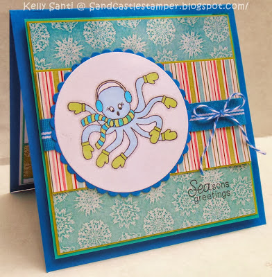 Seasons Greetings card by MiamiKel using Newton's Nook Designs Stamps
